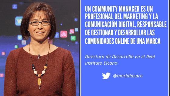 María Lázaro Community Manager