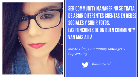 Mayte Diaz Community Manager